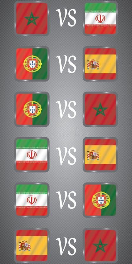 Ποδόσφαιρο πρωτάθλημα Διανυσματικές σημαίες Ομάδα Β ελεύθερη απεικόνιση δικαιώματος