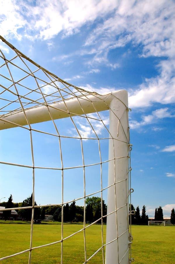 ποδόσφαιρο πυλών στοκ φωτογραφίες με δικαίωμα ελεύθερης χρήσης