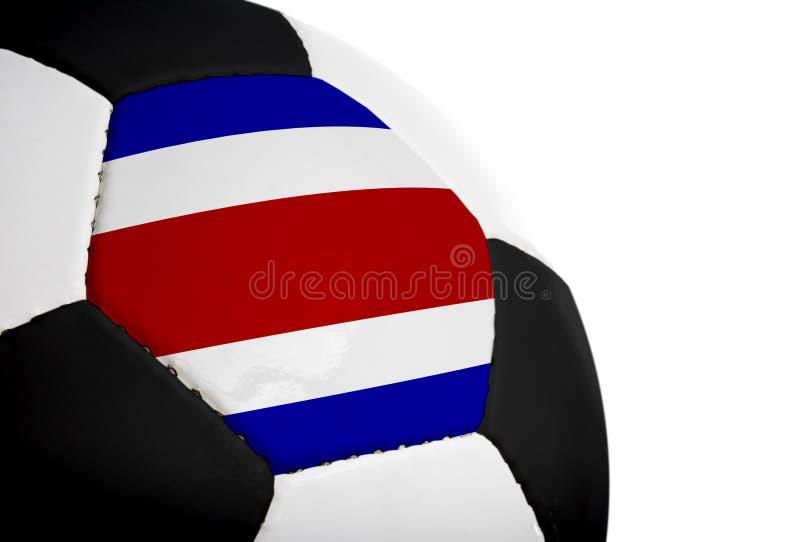 ποδόσφαιρο σημαιών πλευρών rican στοκ εικόνες