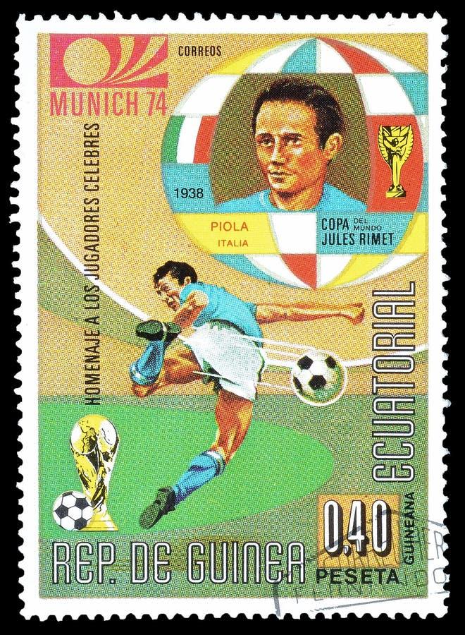 Ποδόσφαιρο στα γραμματόσημα στοκ εικόνα με δικαίωμα ελεύθερης χρήσης