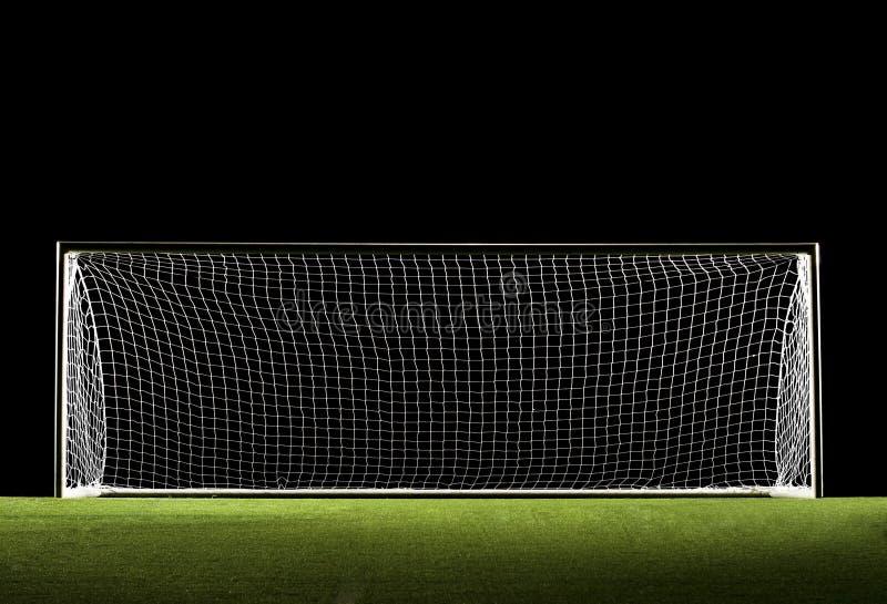 ποδόσφαιρο στόχου ποδοσφαίρου στοκ φωτογραφία
