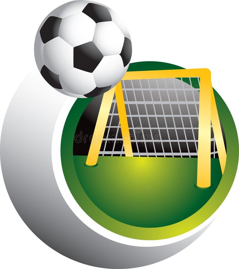 ποδόσφαιρο στόχου σφαιρώ& διανυσματική απεικόνιση
