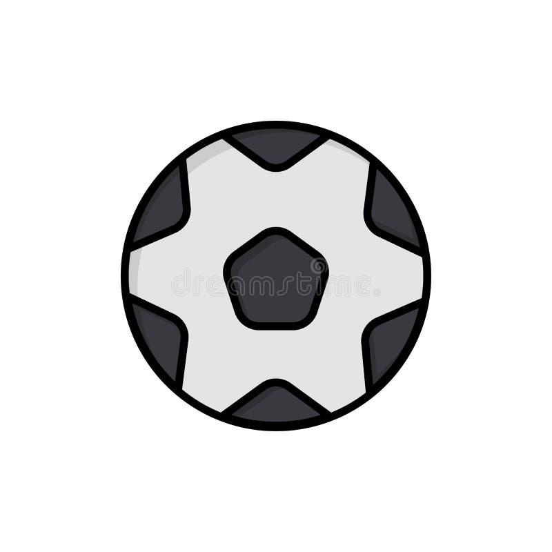 Ποδόσφαιρο, σφαίρα, αθλητισμός, επίπεδο εικονίδιο χρώματος ποδοσφαίρου Διανυσματικό πρότυπο εμβλημάτων εικονιδίων απεικόνιση αποθεμάτων