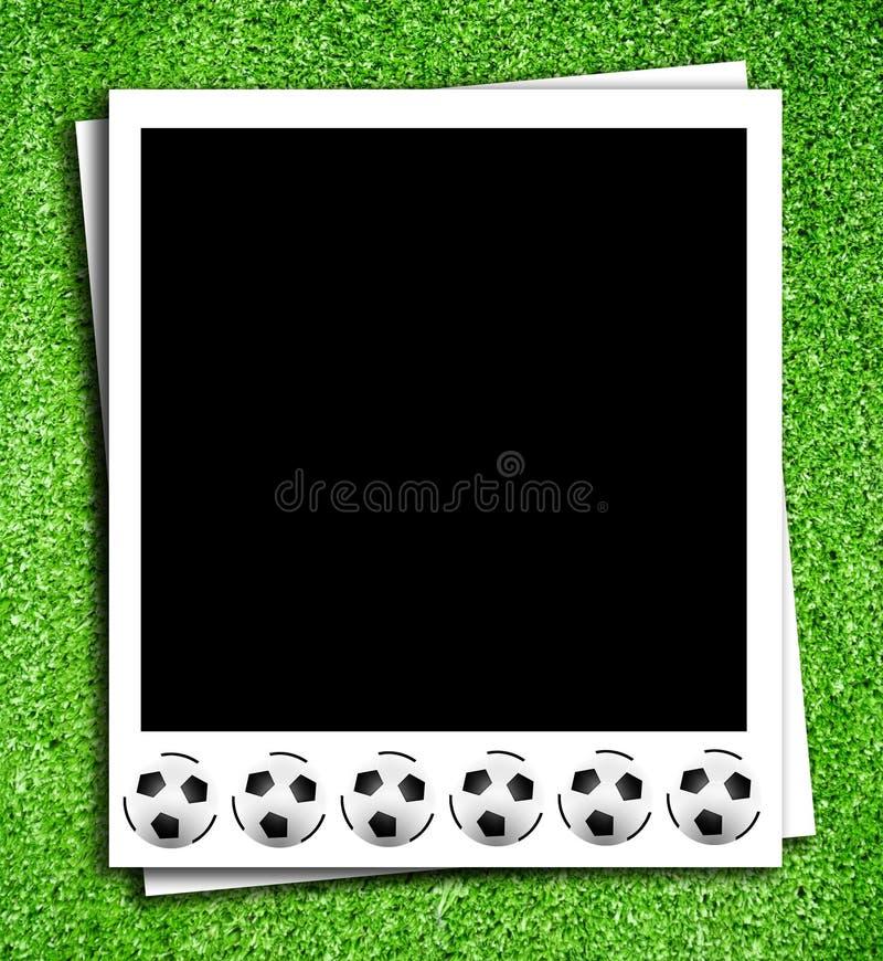ποδόσφαιρο σφαιρών photoframe στοκ φωτογραφίες με δικαίωμα ελεύθερης χρήσης