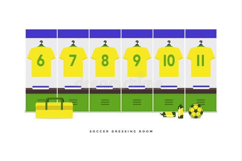 Ποδόσφαιρο της Βραζιλίας ή βεστιάριο ομάδων ποδοσφαίρου ελεύθερη απεικόνιση δικαιώματος