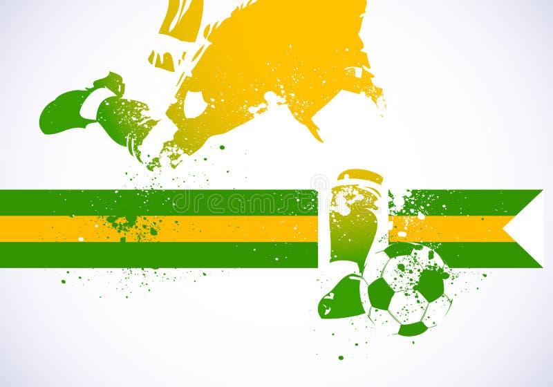 Ποδόσφαιρο της Βραζιλίας ελεύθερη απεικόνιση δικαιώματος