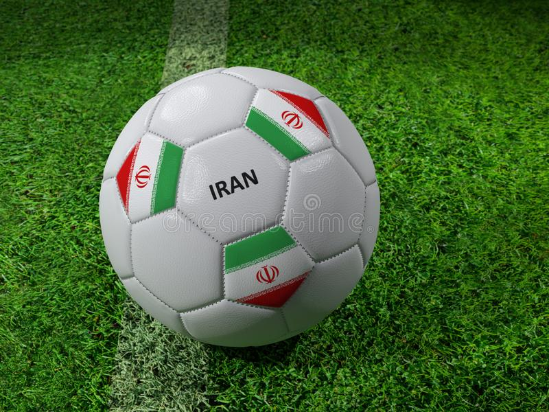 ποδόσφαιρο του Ιράν σφαιρών ελεύθερη απεικόνιση δικαιώματος