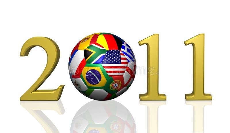 ποδόσφαιρο του 2011 διανυσματική απεικόνιση