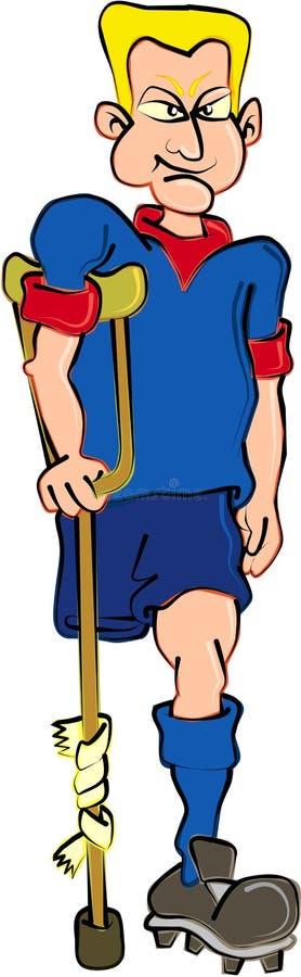 Download ποδόσφαιρο φορέων διανυσματική απεικόνιση. εικονογραφία από αθλητών - 1544384