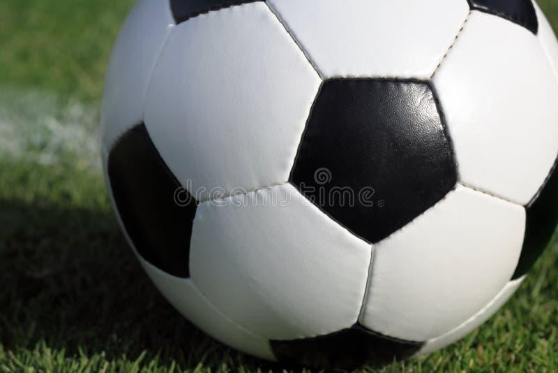 ποδόσφαιρο χλόης σφαιρών στοκ εικόνα