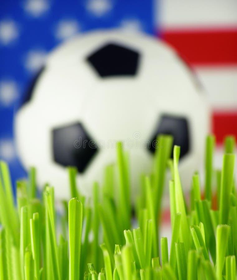 ποδόσφαιρο χλόης σφαιρών στοκ φωτογραφία με δικαίωμα ελεύθερης χρήσης