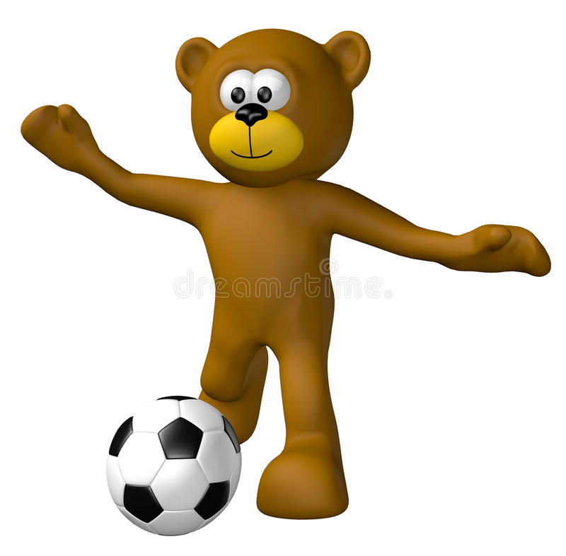 ποδόσφαιρο teddy διανυσματική απεικόνιση