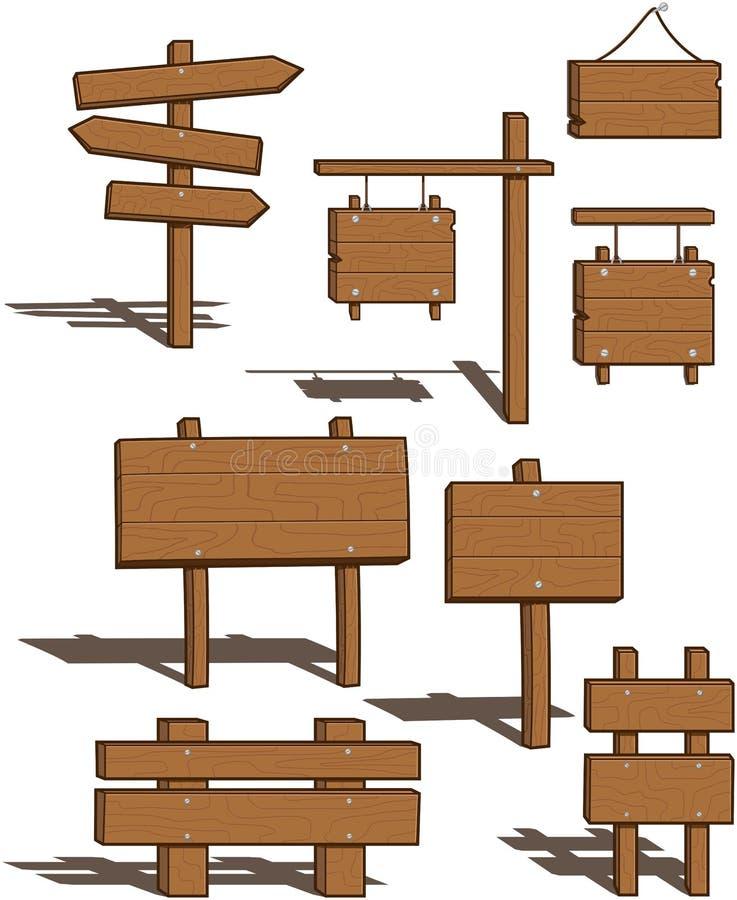 ποικιλία σημαδιών ξύλινη ελεύθερη απεικόνιση δικαιώματος