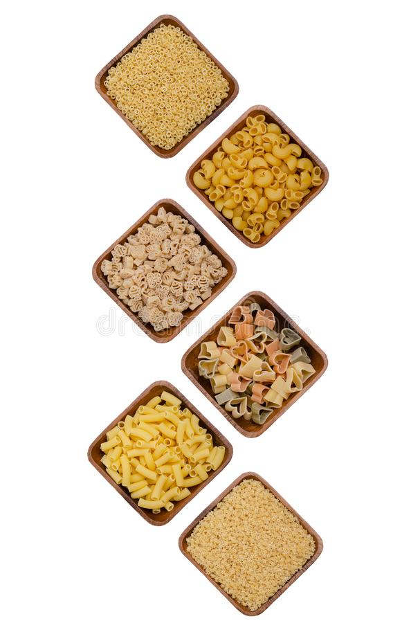 Ποικιλία των ξηρών ζυμαρικών στοκ φωτογραφία με δικαίωμα ελεύθερης χρήσης