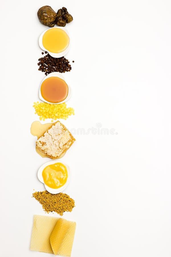 Ποικιλία των προϊόντων μελισσών στοκ εικόνες