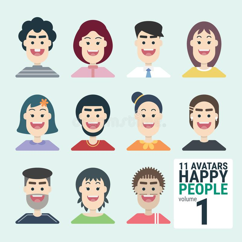 Ποικιλία-human-11-Avatars-Happy-PEOPLE-volume-1 - Μπορείτε να επιλέξετε και να χρησιμοποιήσετε εύκολα ελεύθερη απεικόνιση δικαιώματος