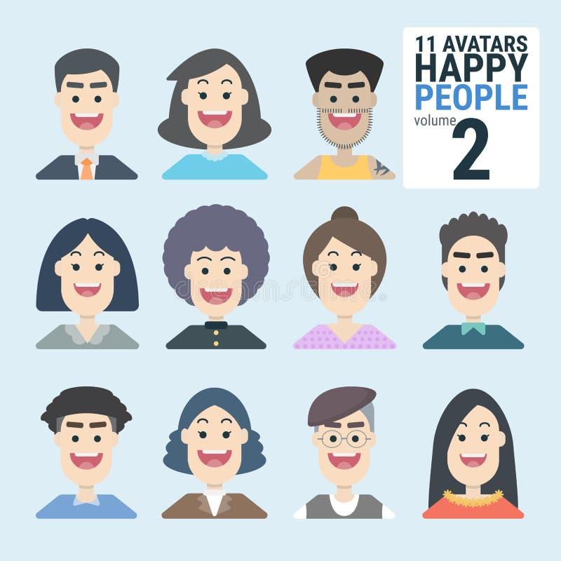 Ποικιλία-human-11-Avatars-Happy-PEOPLE-volume-2 - Μπορείτε να επιλέξετε και να χρησιμοποιήσετε εύκολα ελεύθερη απεικόνιση δικαιώματος