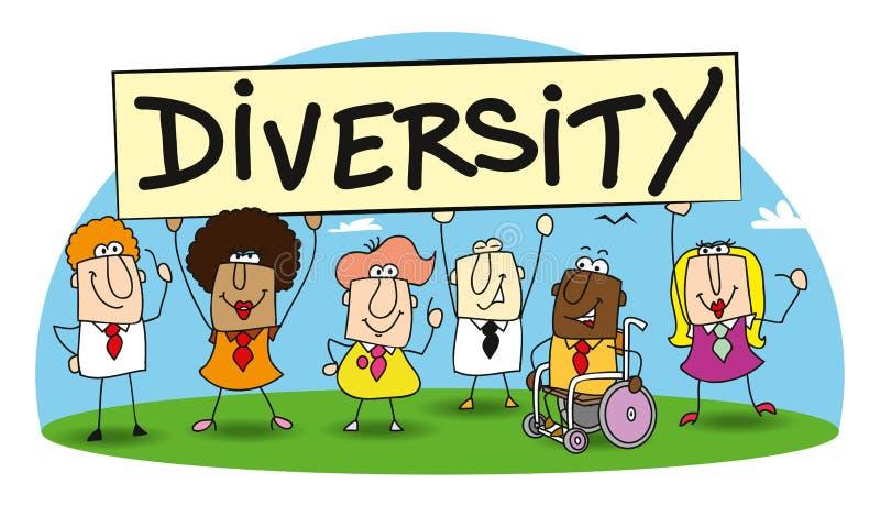 Ποικιλομορφία στην ομάδα μου ελεύθερη απεικόνιση δικαιώματος