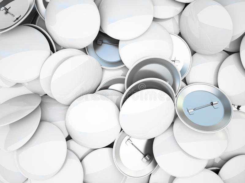 Ποικιλία των κενών κουμπιών διανυσματική απεικόνιση