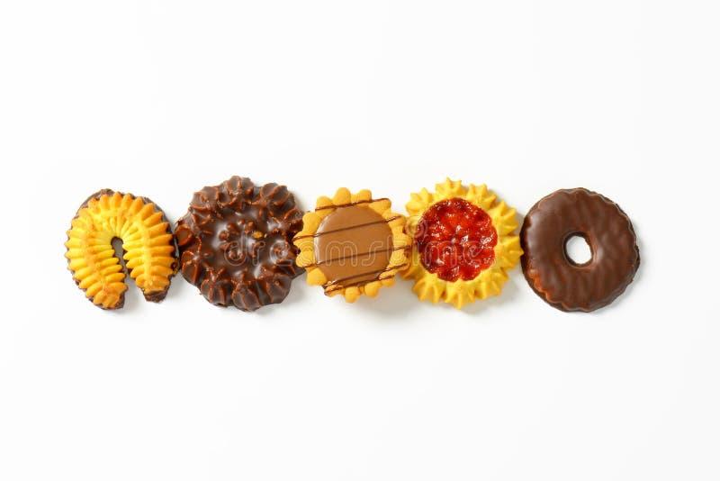 Ποικιλία των βουτύρου μπισκότων στοκ εικόνες με δικαίωμα ελεύθερης χρήσης