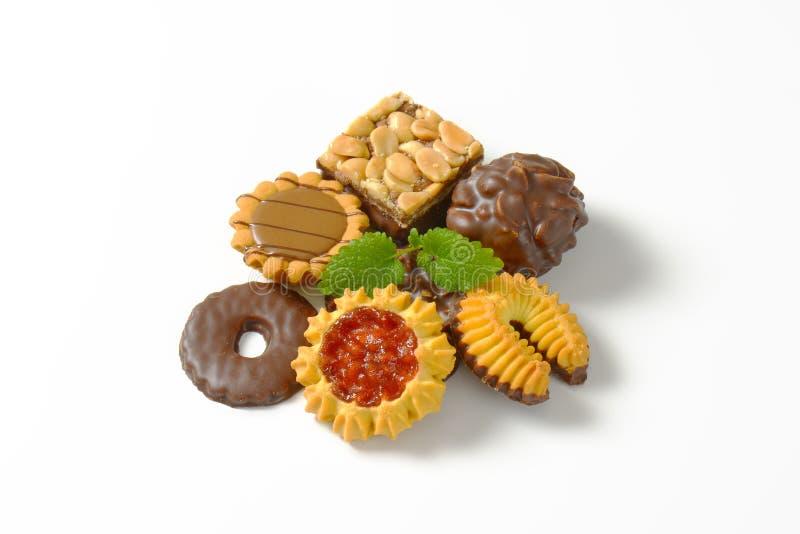 Ποικιλία των βουτύρου μπισκότων στοκ φωτογραφίες