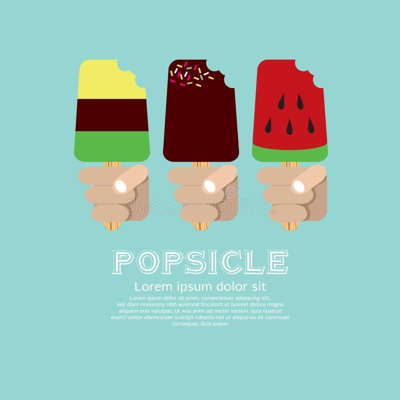 Ποικιλία Popsicle. διανυσματική απεικόνιση