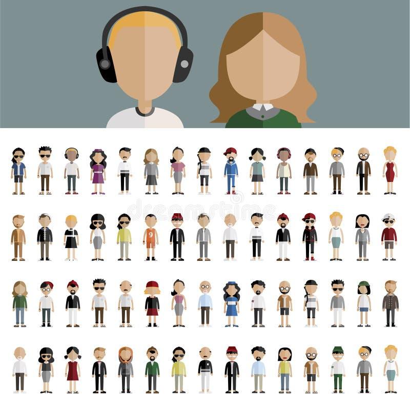 Ποικιλομορφίας κοινοτική έννοια εικονιδίων σχεδίου ανθρώπων επίπεδη ελεύθερη απεικόνιση δικαιώματος