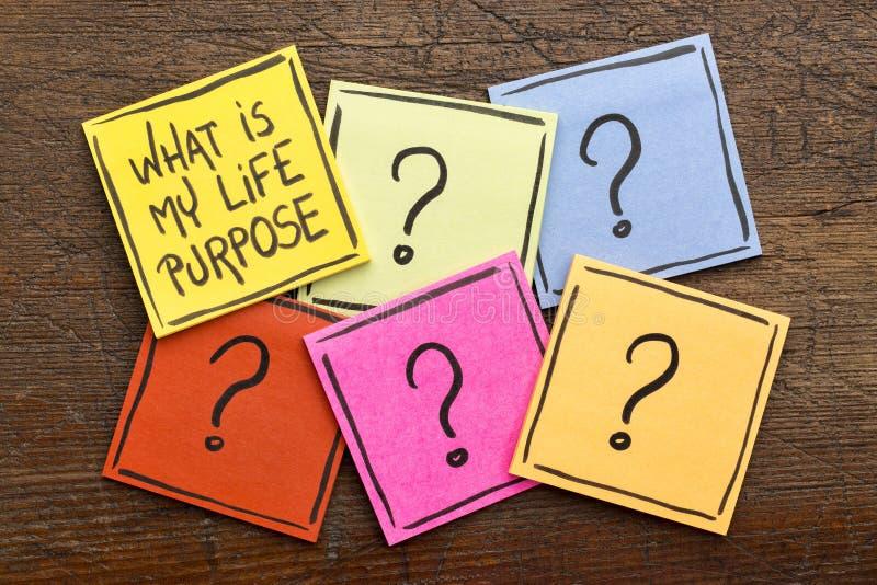 Ποιος είναι ο σκοπός ζωής μου; στοκ εικόνα με δικαίωμα ελεύθερης χρήσης