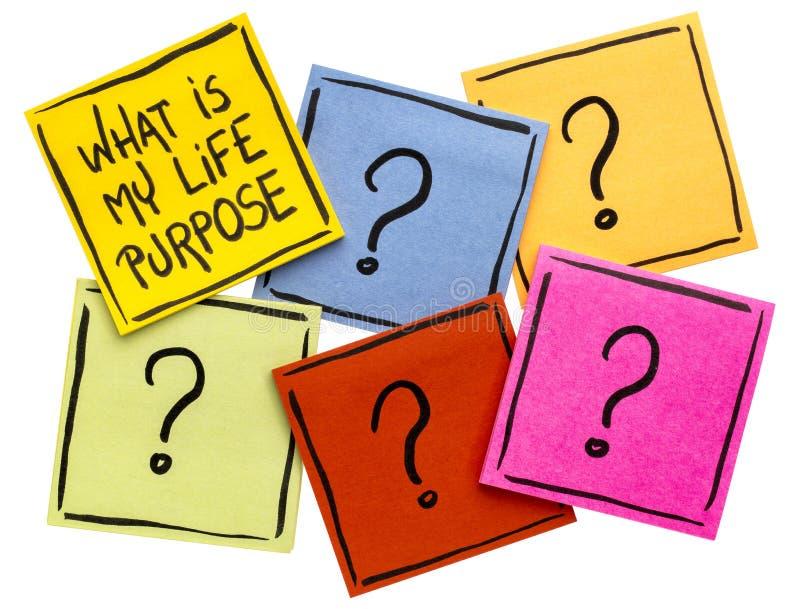 Ποιος είναι ο σκοπός ζωής μου; στοκ εικόνες με δικαίωμα ελεύθερης χρήσης