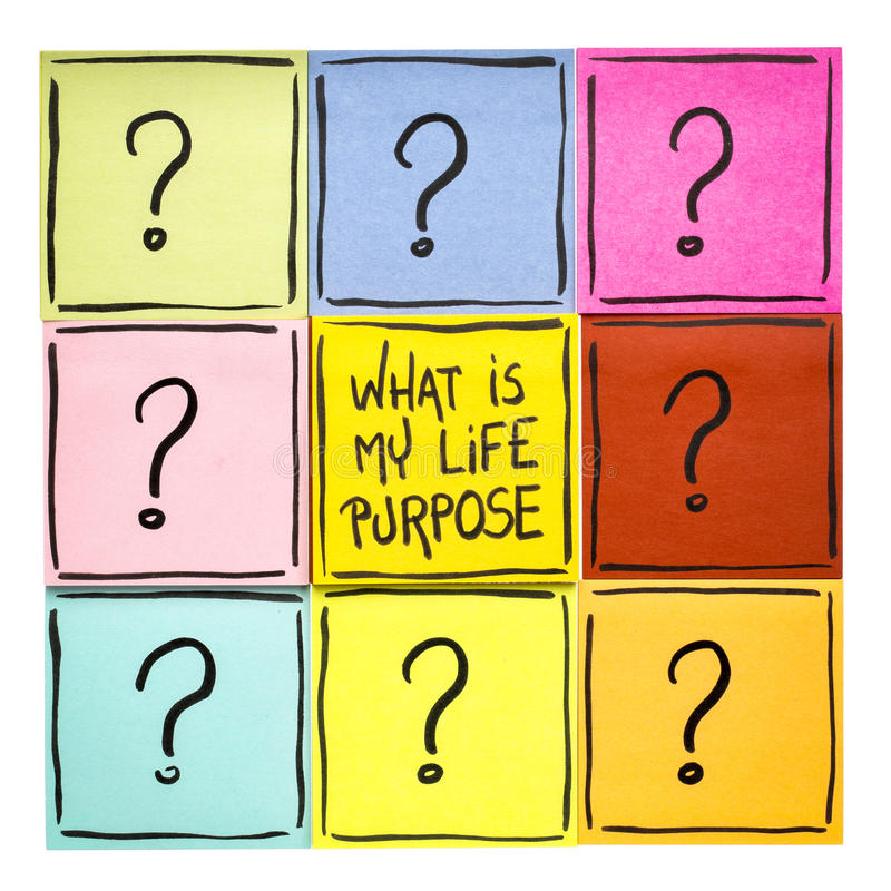 Ποιος είναι ο σκοπός ζωής μου; στοκ φωτογραφίες με δικαίωμα ελεύθερης χρήσης