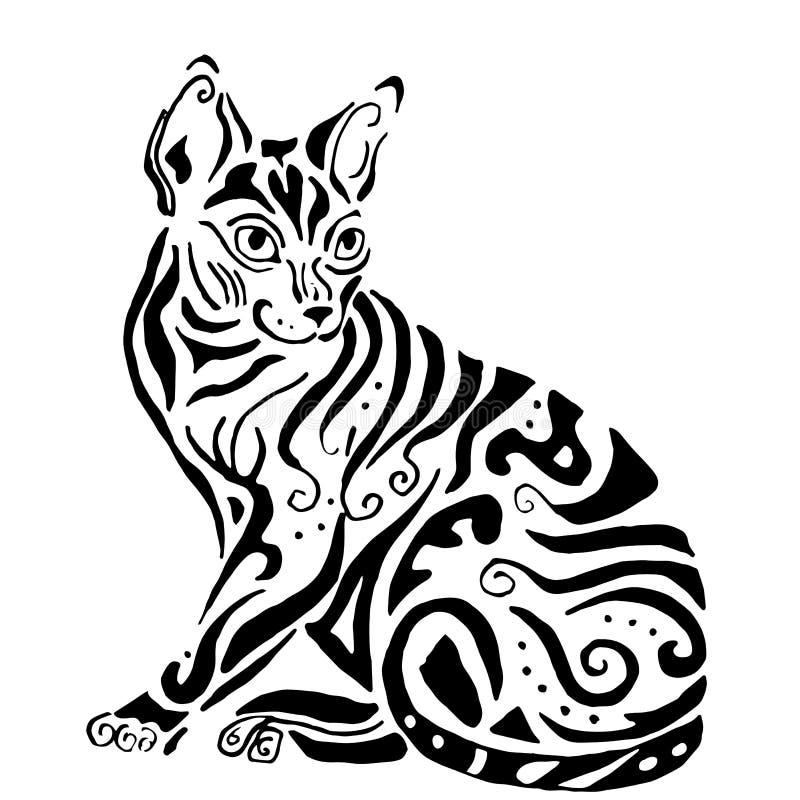 Ποιοτική αιγυπτιακή γάτα Hiqh για το χρωματισμό ελεύθερη απεικόνιση δικαιώματος