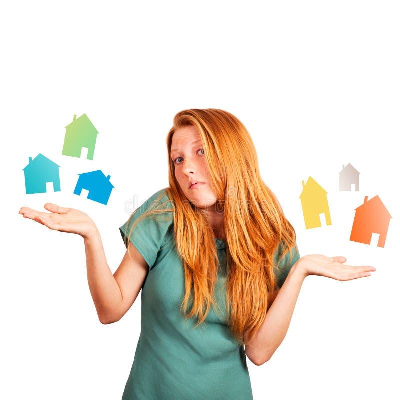 Ποιο σπίτι να επιλέξει; στοκ εικόνες με δικαίωμα ελεύθερης χρήσης