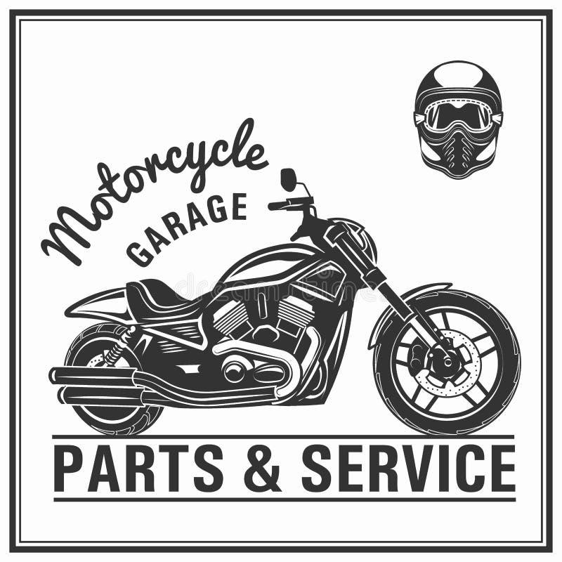 Ποιότητα στοιχείων λογότυπων μοτοσικλετών που τίθεται με τα κράνη διανυσματική απεικόνιση