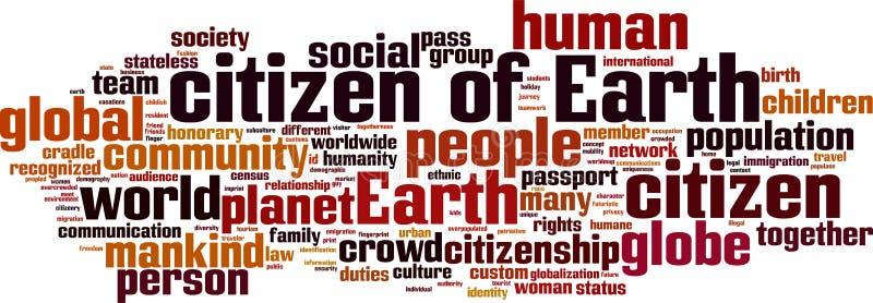 Πολίτης του σύννεφου γήινης λέξης ελεύθερη απεικόνιση δικαιώματος