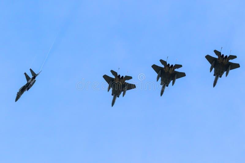 Πολεμικά αεροσκάφη αετών USAF F15 στοκ εικόνες