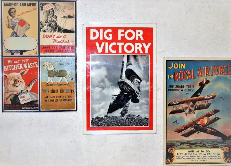 Πολεμικές αφίσες, Ripley, Derbyshire, UK στοκ εικόνες