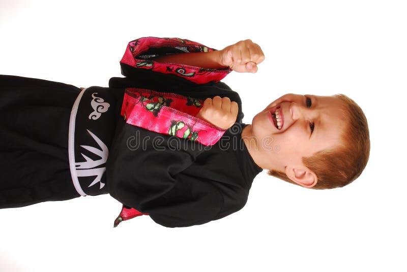πολεμική άσκηση αγοριών τεχνών στοκ εικόνα με δικαίωμα ελεύθερης χρήσης