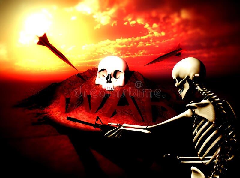 Πολεμική ανασκόπηση 9 πολεμικών σκελετών στοκ εικόνες
