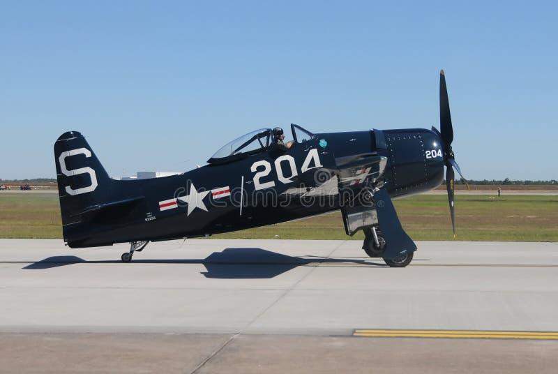 Πολεμικό αεροσκάφος εποχής Δεύτερου Παγκόσμιου Πολέμου στοκ εικόνα με δικαίωμα ελεύθερης χρήσης
