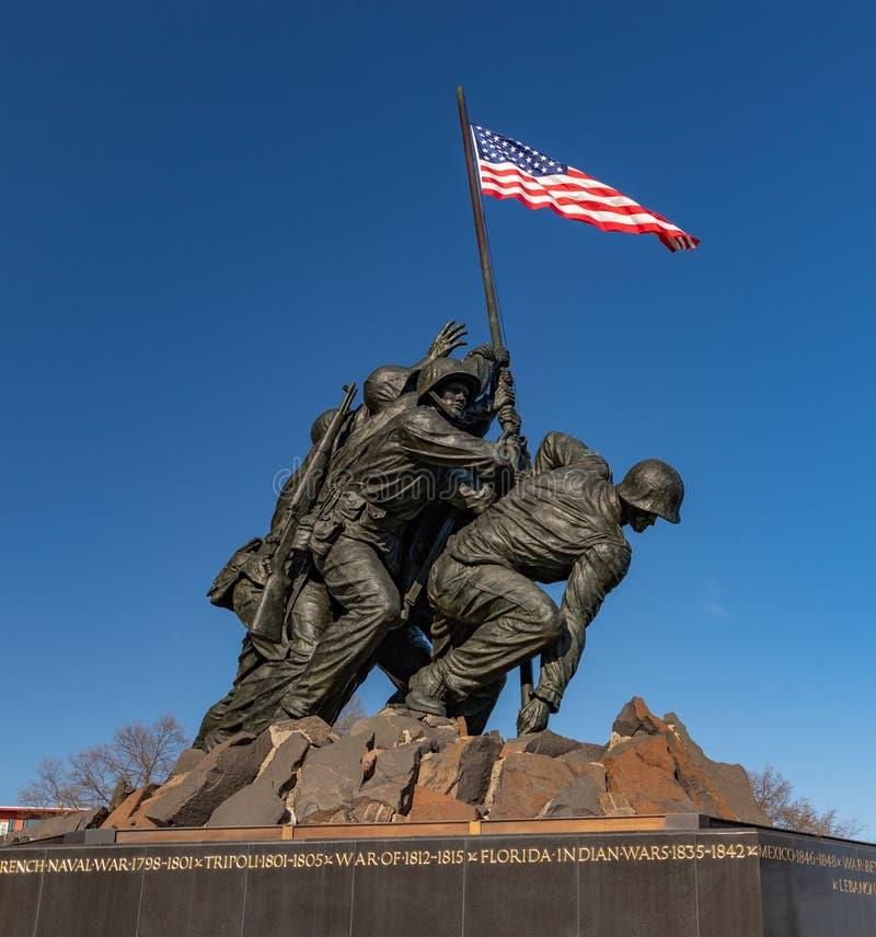 Πολεμικό μνημείο αμερικανικού Στρατεύματος Πεζοναυτών στοκ φωτογραφίες