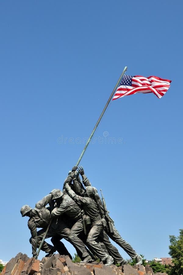 Πολεμικό μνημείο αμερικανικού Στρατεύματος Πεζοναυτών στοκ εικόνες με δικαίωμα ελεύθερης χρήσης