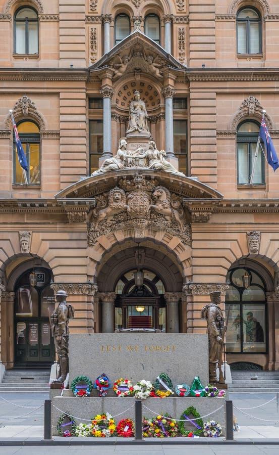 Πολεμικό μνημείο κενοταφίων στη θέση του Martin, Σίδνεϊ Αυστραλία στοκ εικόνες