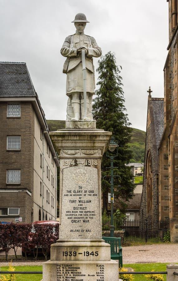 Πολεμικό μνημείο στο οχυρό William, Σκωτία στοκ φωτογραφία με δικαίωμα ελεύθερης χρήσης