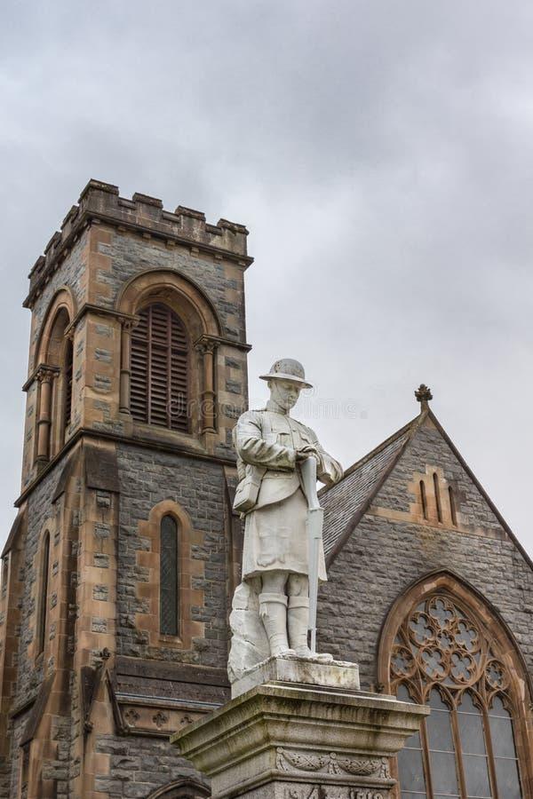 Πολεμικό μνημείο στο οχυρό William, Σκωτία στοκ εικόνες