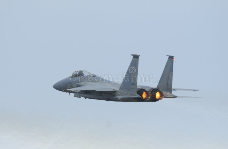 πολεμικό τζετ αετών φ 15 airshow στοκ φωτογραφία