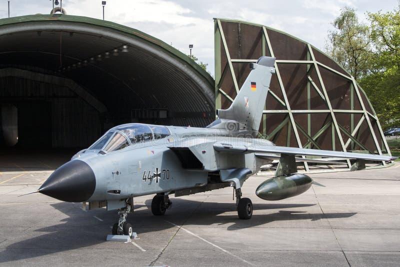 Πολεμικό τζετ RAF Laarbruch ανεμοστροβίλου στοκ εικόνα