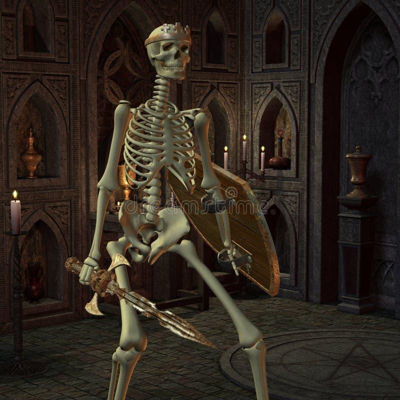 Πολεμιστές σκελετών στο δωμάτιο βωμών απεικόνιση αποθεμάτων