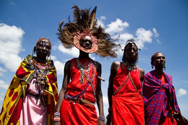 πολεμιστές masai στοκ φωτογραφίες με δικαίωμα ελεύθερης χρήσης