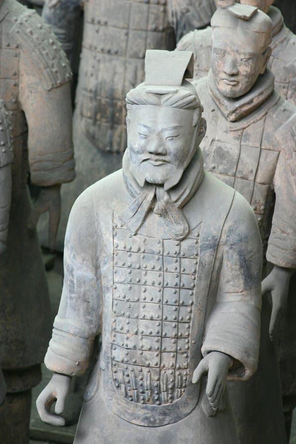 πολεμιστές terracota της Κίνας xian στοκ εικόνες με δικαίωμα ελεύθερης χρήσης
