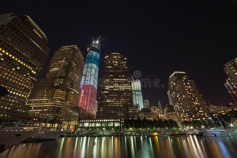 ΠΟΛΗ ΤΗΣ ΝΕΑΣ ΥΌΡΚΗΣ - 17 ΣΕΠΤΕΜΒΡΊΟΥ: World Trade Center στοκ φωτογραφία